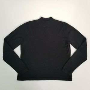 Talbots Petites Black Mock Neck Sweater Medium